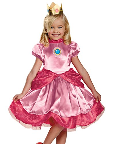 Disguise Nintendo Super Mario Brothers Princess Peach Girls Toddler Costume