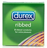 DUREX RIBBED CONDOMS 3PK
