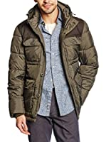 Dockers Abrigo Hooded Puffer (Caqui)