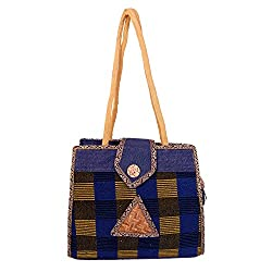 Womaniya Women's Jute Handbag(Size-28 Cm x 21 Cm x 11 Cm)