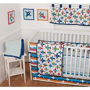 Sumersault Taking Flight Crib Bedding Collection