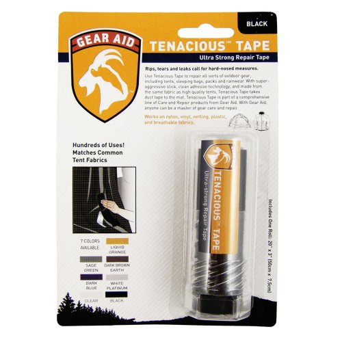 Gear Aid Tenacious Tape Ultra Strong Repair Tape Black