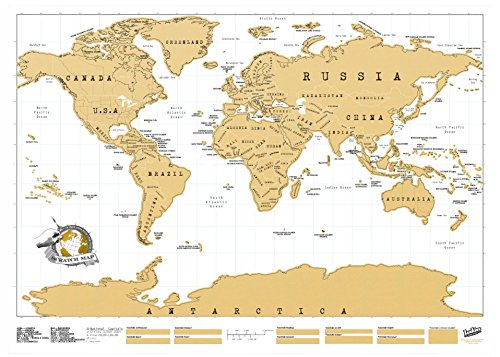 Luckies Scratch Map Personalised World Map