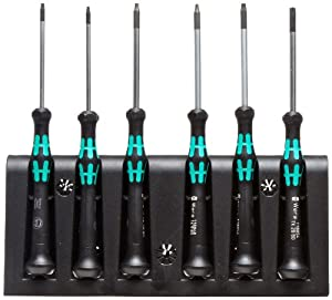 wera kraftform 2067 micro screwdriver set torx tip 6 piece set diy tools. Black Bedroom Furniture Sets. Home Design Ideas