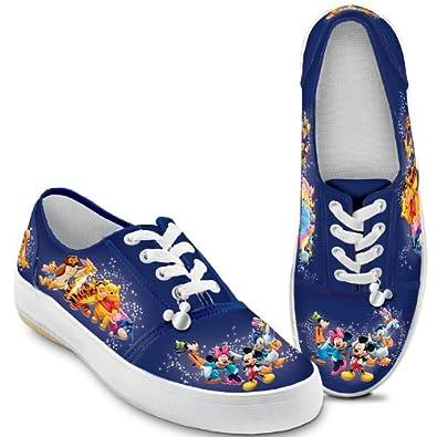 Wonderful World Of Disney Artistic Women's Canvas Shoes by The Bradford Exchange: 5 M US women