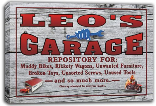 scpp1-0168-leos-home-bar-beer-ale-pub-stretched-canvas-print-sign