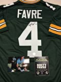 Brett Favre Autographed Signed Green Bay Packers Custom Jersey Favre COA & Hologram W/Photo From Signing