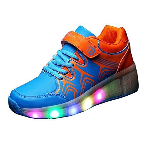 iLory-Zapatos-Del-Patn-de-Ruedas-de-Luz-LED-de-Nios-Con-Ruedas-Heelys-Luminoso-Parpadeante