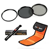 K&F Concept 72mm UV CPL ND4 Lens Accessory Filter Kit UV Protector Circular Polarizing Filter Neutral Density Filter for Canon 7D 60D 70D 500D for Nikon D7000 D600 D300 D800 D7100 for Sony A77 NEX 5 DSLR Cameras + Cleaning Pen + Filter Bag Pouch