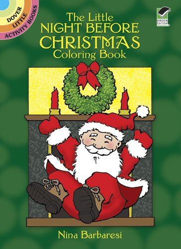 The Little Night Before Christmas Coloring Book (Dover Little Activity Books)