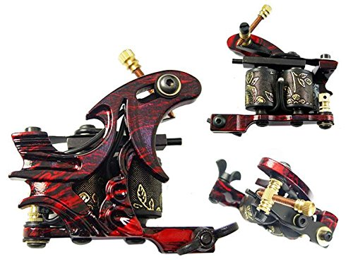 Afterlife Custom Irons Tattoo Gun Machine 10-Wrap Coils Shader - Green (Tattoo Coil Washers compare prices)