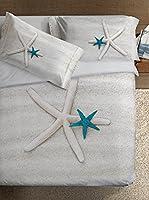 Ipersan Juego De Funda Nórdica Fine-Art Star (Beige/Turquesa)