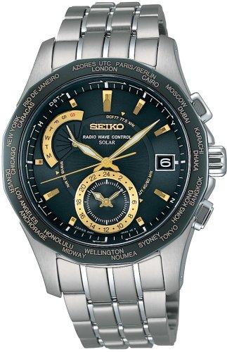 SEIKO (セイコー) 腕時計 BRIGHTZ ブライツ ワールドタイムソーラー 電波時計 SAGA001 メンズ