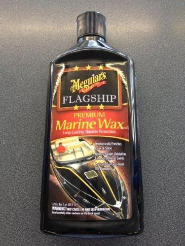 Superb Meguiars Marine Products - Rinnovante colore per verniciatura metallizzata per camper, comprendente un guanto magico AA in microfibra