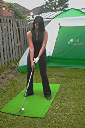 A99 Golf Practice Mat XXL + Clikka Ball Pick up Tube + 22 White Air Flow Balls