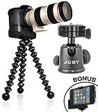 GorillaPod-Focus-Flexible-Tripod-with-Ball-Head-Bundle-For-the-Canon-EOS-Rebel-T5i-T3-T3i-T4-T4i-T2i-T1i-EOS-1D-MARK-III-1D-MARK-IV-1DS-MARK-II-SL1-5D-7D-20D-30D-40D-50D-60D-70D-XS-Xsi-Xti-D-SLR-Camer