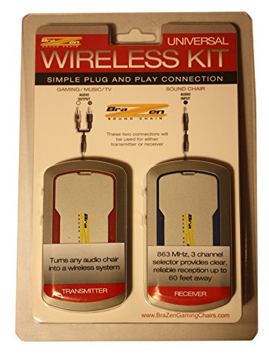 BraZen Universal Audio Wireless Kit - Receiver and Transmitter - Grey
