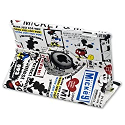 Lovely Mickey Minnie Mouse 360° Rotatable Cloth Folio cover Case for iPad 4