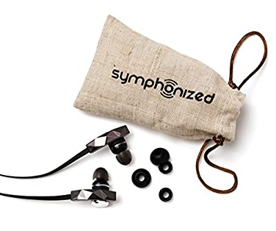 Symphonized PRO Premium In-ear Noise-isolating Earphones Earbuds Headphones with Flat Cable and Microphone