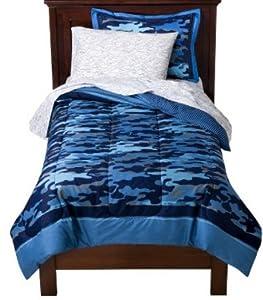 Amazon Com Blue Camouflage Boys Twin Comforter Set 5
