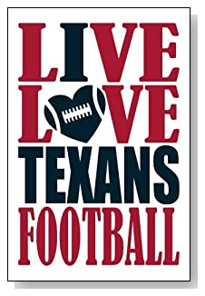 Live Love I Heart Texans Football lined journal - any occasion gift idea for Houston Texans fans from WriteDrawDesign.com