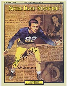 Leon Hart Autographed Hand Signed Notre Dame Fighting Irish 8x10 Photo - 1949 Heisman... by Real+Deal+Memorabilia
