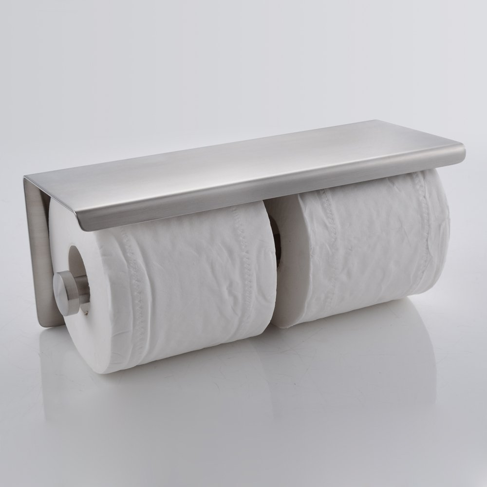Kes Sus 304 Stainless Steel Double Roll Toilet Paper