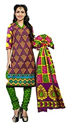 Riddhi Dresses Women's Cotton Unstitched Dress Material (Riddhi Dresses 79_Multi Coloured_Free Size)