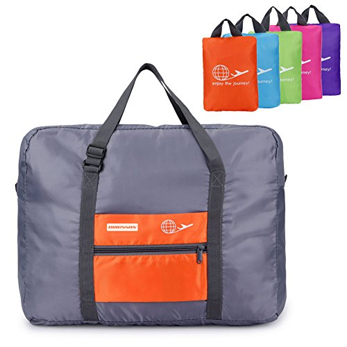 ORICSSON 32L Carry On Foldable Extra Large Extra Strong Storage Bag Large Duffel Sports Gym Bag(Orange) (Garment Bag Bauer compare prices)
