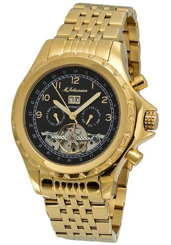 M. Johansson KaloeGGB Men's Automatic Gold Plated Stainless Steel Wrist Watch