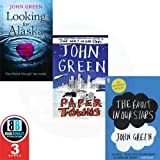 John Green Collection 3 Books Set, (The Fault in Our Stars, Looking For Alaska & Paper Towns)