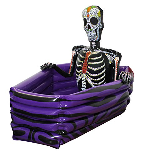 HALLOWEEN DRINKS COOLER INFLATABLE COFFIN DAY OF THE DEAD SKELETON PERFECT FOR HALLOWEEN ILOVEFANCYDRESS ILFD227