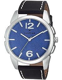 Swisstone FTREK612-BLU-BLK Blue Dial Black Strap Analog Wrist Watch For Men/Boys