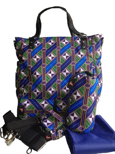 House of Botori Toriola Tote Bag, Braid Sapphire