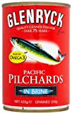 Glenryck Atlantic Pilchards in Brine 425 g (Pack of 12)