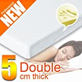 5cms (2 inch) Deep DOUBLE Size Memory Foam Mattress Topper With Open Cell Construction -***Now Includes A Fitted Washable Cover With Zip***by rejuvopedic