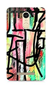 Amez designer printed 3d premium high quality back case cover for Xiaomi Redmi Note 3 (Abstraction shape)