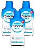 NEW CORSODYL DAILY COOL MINT ALCOHOL FREE MOUTH WASH 500ML DUAL ACTION PROTECT