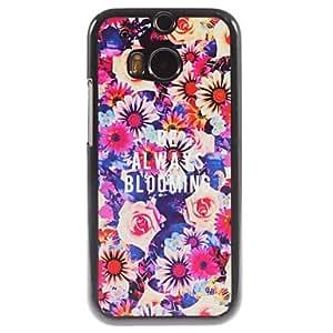 GENERIC Always Blooming Design Aluminium Hard Case for HTC M8 #01751783