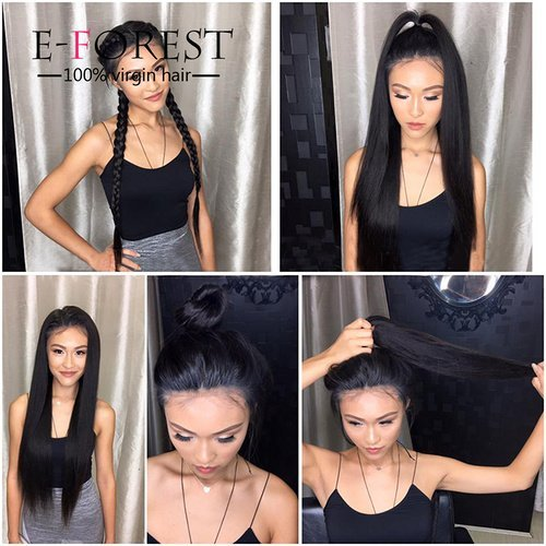 E-forest-hair-7A-10-26-100-Virgin-Brazilian-Remy-Human-Hair-Silk-Top-Full-Lace-Wig-Silky-Straight-130-Density-Baby-Hair-Bleached-Knots-For-Black-Wome-Vhn-002