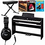 Casio PX-780 BK 88-Key Digital Piano with 3 Hal Leonard Books Large Bench and Headphones