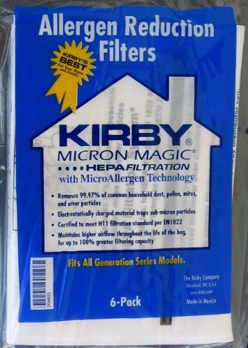 Kirby Upright Ultimate G and Diamond Edition HEPA Vacuum Paper Bags 6PK # 204803G,204803 (Kirby Bags 204803 compare prices)