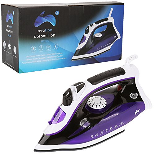 ovation-ht300-multi-function-steam-iron-with-ceramic-coated-sole-plate-2300w-purple-white