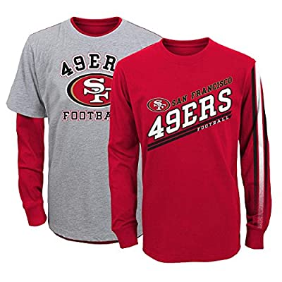 "San Francisco 49ers Youth NFL ""Classic Fade"" 3 in 1 T-Shirt Combo Set"