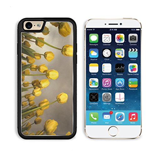 Blooming Yellow Tulip Flowers Field Apple Iphone 6 Tpu Snap Cover Premium Aluminium Design Back Plate Case Customized Made To Order Support Ready Luxlady Iphone_6 Professional Case Touch Accessories Graphic Covers Designed Model Sleeve Hd Template Wallpap front-1019929