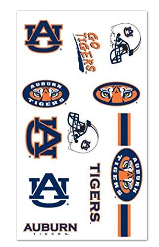 Auburn University temporary tattoos sheet (10 individual tattoos)