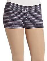 Harmonie Womens Multi-striped Hipster Short, Black Currant, Medium/Large