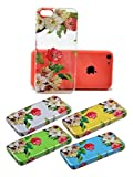 iPhone 5C Case, Daswise® the Beat Series Hard Clear Back Cover Snap on Case for iPhone 5C+ Screen Protector + Screen Cleaner (Begonia)