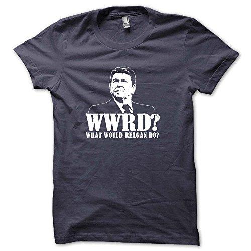 What Would Ronald Reagan Do Funny Gop Rupublican Tea Party Juniors Babydoll T-Shirt Charcoal S