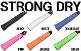【HORIZON ホライズン】6色×5本30本セット 手汗を究極吸汗 ストロング ドライグリップテープ ブラック ホワイト ブルー オレンジ グリーン ピンク 各色1本 ロング対応 バドミントン